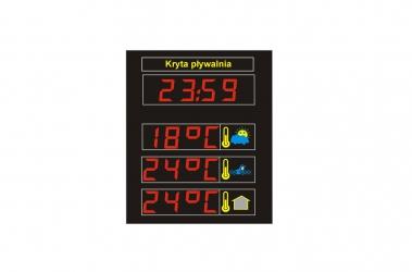Tablice informacyjne temperatura, czas