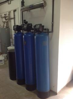 System odżelaziania, zmiękczanie, dezynfekcja na sterylizatorze UV 4 m3/h, dozowanie inhibitora korozji - wytwornica pary, woda dla przemysłu pieka...